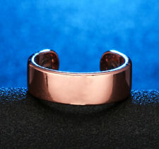 PURE SOLID COPPER 4 X 3000 GAUSS MAGNETIC RING ARTHRITIS SIZE OPEN MEN WOMEN CR1