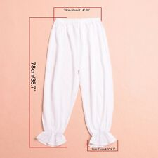 Women's Pants Victorian White Pantaloons Pettipants Renaissance Gypsy Bloomers