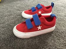 Toddler red converse shoes size 7