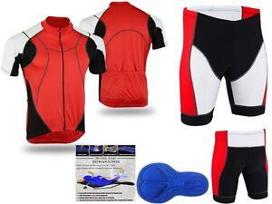 ProAthletica Men's High Quality, Gel Padded Cyclist Shorts,& Matching Jersey Set