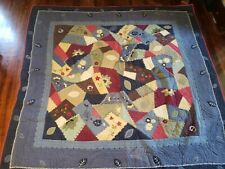 Pottery Barn Quilt Full / Queen and Two Pillow Shams Euc 84 x 84