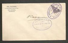 Nicaragua Scott #103 1898 10c bisect on Bluefields, Grey Town, San Juan del Nort