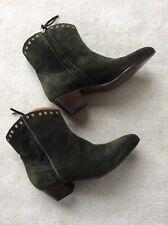 Closed Damen Boots Mit Nieten Flaschengrün Gr.39