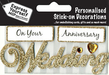 Gold Wedding Anniversary DIY Greeting Card Toppers Personalise Cards Yourself