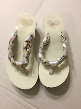 Pastry Popstars Girls Flip Flop Sandals Sz 4 White