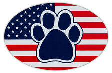 Oval Shaped Car Magnet - Dog Paw United States Flag - USA - Cars, Refrigerators