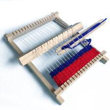 Kid DIY Wooden Handloom Developmental Toy Yarn Weaving Knitting Shuttle Loom New