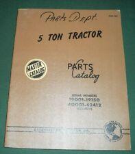CAT CATERPILLAR 5 TON CRAWLER TRACTOR DOZER PARTS MANUAL BOOK