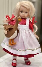 """24cm Boneka Dress + Embroidered Pinafore for 10"""" Monday Tuesday Child Dolls"""