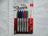 Sharpie Permanent Fine-Point Markers, $5.99, Assorted Colors, Pack Of 5, 1 Pack