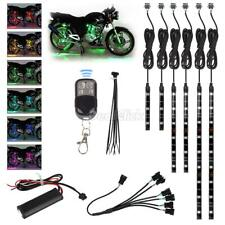 """4""""-12"""" Flexible Rgb Multi Color Smd 5050 Led Light Strip x6 For Honda Motorcycle(Fits: Mastiff)"""