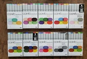 Copic Sketch Markers Set Of 10 Packs, 60 Total Markers NEW