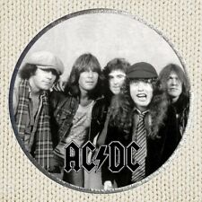 AC DC Patch Picture Embroidered Border Hard Rock Band Angus Young Brian Johnson