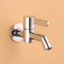 Basin Sink Tap Faucet Single Handle Hole Bathroom Wall Mounted Cold Water Spout