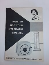 Vintage Intermatic Time-All Instructions Booklet For Collectors / parts