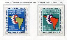 19042) UNITED NATIONS (New York) 1961 MNH** Nuovi** Latin America