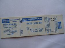 CHICAGO / BEACH BOYS Original 1975 CONCERT TICKET__Madison Square Garden__VG+++