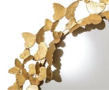 butterflies  HAMPTONS CONTEMPORARY GOLD   WALL MIRROR 70cm diameter  NEW