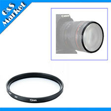 72mm Multi Coated MCUV lens Filter Protector for Nikon Canon Sony Sigma