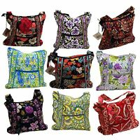 Vera Bradley Hipster Messenger Bag Purse Womens Tote Crossbody Strap Handbag New