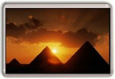 Pyramids at sun set Egypt Fridge Magnet 01