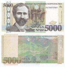 Armenia P-New 2012 5000 Dram (Gem UNC)