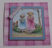 Paquete de 3 cumpleaños niña topper decoraciones para tarjetas o manualidades