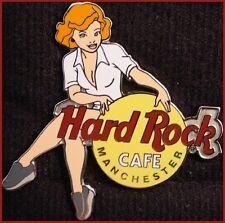 Hard Rock Cafe MANCHESTER 2002 Girls of Rock Series PIN GOR #1 WHITE Uniform