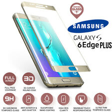 Samsung Galaxy S6 Edge PLUS Full Curved Tempered Glass Screen Protection Gold