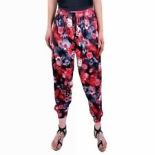 Womens Lightweight Summer Floral Trousers Elasticated Holiday Pants
