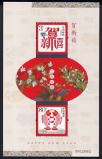 China PRC 2006-H1 Grußmarken Neujahr 2007 New Year Fische Fishes Bl.131 ** MNH