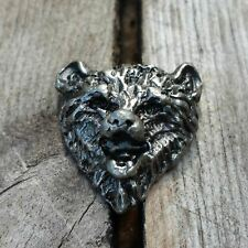 1 1/8 Antique Nickel Bear Decorative Wood Screw Hardware Fastener Craft Work Diy