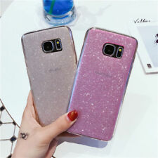 For Samsung Galaxy S7 S8 J7 J5 Bling Glitter Soft Rubber Shockproof Case Cover