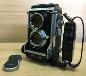 Near Mint Mamiya C3 TLR Camera w/ Sekor 105mm F/3.5 Lens & Grip From JPN