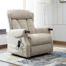 Warwick Electric Dual Motor Riser and Recliner Lift Chair With Wooden Knuckles