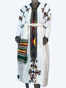 #Ethiopian Traditional Gonder #Women's Clothing, zuriya 100% Cotton Full Dress