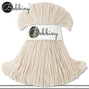 Bobbiny 100 m Flechtkordel 3 mm | Natural | Basteln Baumwolle Hobby PREMIUM