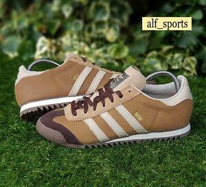 ❤ BNWB & Genuine adidas originals ® Rom Brown Leather Retro Trainers UK Size 8