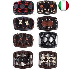 FORMIZON 8 Pezzi Magic Hair Comb Pettini per Capelli Fermagli Vintage Beads