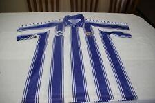 Camiseta OFICIAL VINTAGE MALAGA C.F DE MARCA RASAN TALLA L MODELO ESCASO SHIRT