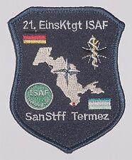 écusson à broder Bundeswehr ISAF SanStff Termez 21. EinsKtgt A2714K