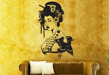 Wall Vinyl Sticker Bedroom Decal Geisha Japan Girl (Z966)