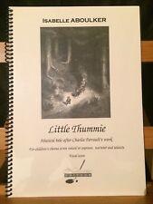 Aboulker Little Thummie / Petit poucet conte partition chant piano Notissimo