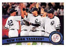 2011 Topps #424 Derek Jeter & Mariano Rivera > New York Yankees