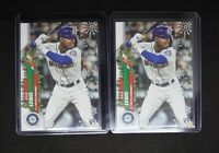 2020 Topps Holiday Kyle Lewis RC (2) - Seattle Mariners ROY Rookie Card