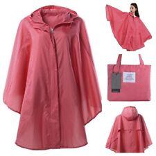 Jacket Ladies Zip Up Palm Print Showerproof Hooded Rain Mac Green Pink Blue