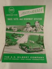 ORIGINAL 1961 AMERICAN FLYER AUTO-RAMA RACE SETS & HIGHWAY SYSTEM FOLD OUT CATAL