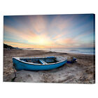 Fishing Boat Beach Sunset Canvas Art Print | Framed Ready to Hang Sunrise Prints