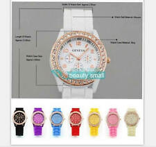 Geneva Stainless Steel Case Women's Analog Wristwatches