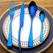 BRAND NEW BLUE Neochrome Rainbow Cutlery set Knife Fork Unicorn/mermaid